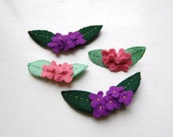 Pretty Flowers - A Handmade Felt Brooch