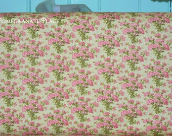 Multi Floral in Sprout ..  BESPOKE BLOOMS - by Brenda Riddle Designs Moda fabric 18620 14  Sprout Green colorway