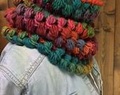 High Quality Eclectic Rainbow Crochet Cowl - MEZIADIN