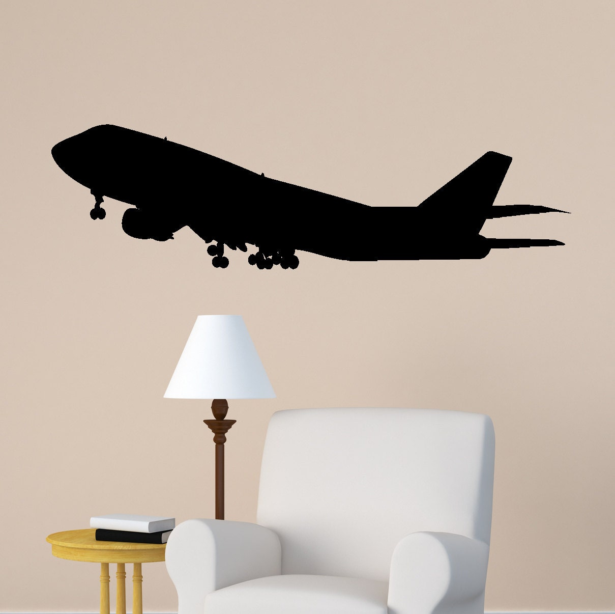 Aircraft Wall Decal Jet Airliner Sticker Aviation Room Decor