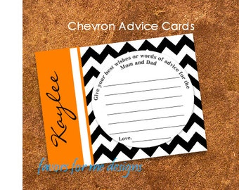 50 Chevron Inspired Baby Shower Advice Cards