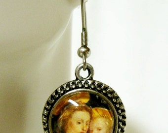 Madonna and child earrings - AP07-515