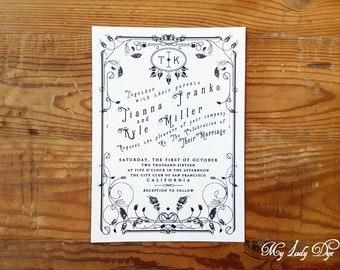 Art deco invitation | Etsy