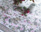 Reserved for Carolyn....Rectangular Tablecloth, Roses, French Country, Vintage French Country, Picnic Table,by mailordervintage on etsy