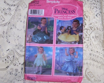 Disney Princess Costumes from Simplicity Toddlers Collection Sewing Pattern #5402