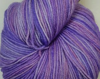 Lavender Brown colorway! Glad Rags 100% Superwash Merino, 100 grams, 438 yards, hand-dyed sockweight