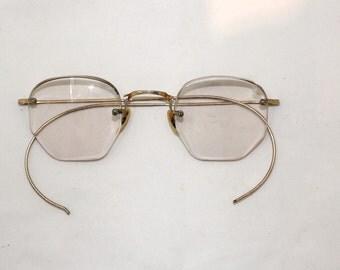 Art craft 12k gold filled eyeglasses 1950s by ifoundgallery for Art craft eyeglasses vintage