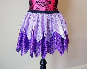 Vidia Costume, Running Skirt, Sparkle Running Skirt, Fairy Running Skirt, Pixie Skirt, Purple Skirt, 5K Skirt, Race Skirt, Princess Skirt