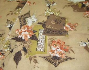 Vintage Floral Fabric, 1 yard
