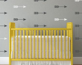 Arrow Decal Set, Arrow Decor, Boho Style Decal Pack, Tribal Nursery, Geometric Pattern, Gold Decals, Bedroom Decor, Modern Wall Art