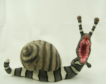 Snail Clay Sculpture Krait