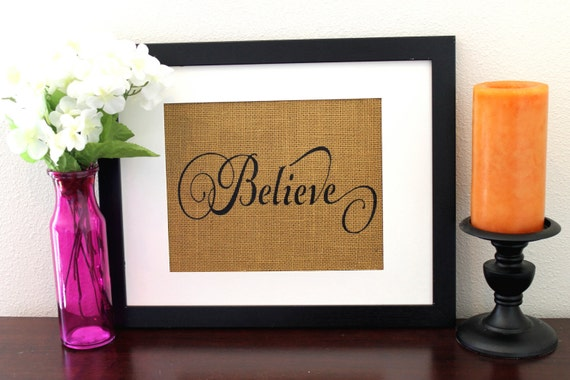 Believe Sign, Christmas Decoration, Wall Decor, Bedroom Decor