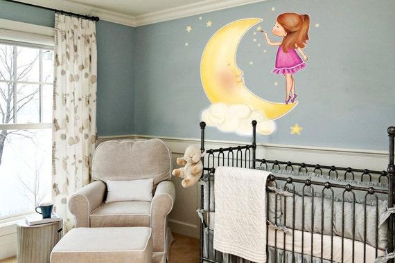Baby Nursery Wall Stickers, personalized wall decals girls room, wall stickers for baby nursery, large wall sticker girls bedroom, vinyl art