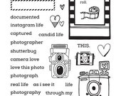 Camera Love - Honey Bee Stamps - High Quality, Adorable Clear Stamps - MADE IN USA - for Scrapbooking, Cardmaking, Paper Crafting