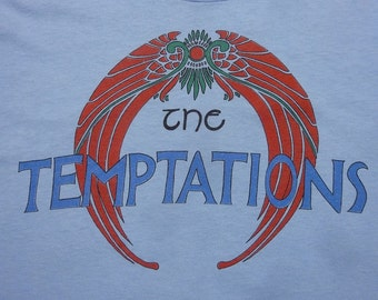 Vintage THE TEMPTATIONS Reunion Tour 1982 Soul R&B Motown Concert T-Shirt