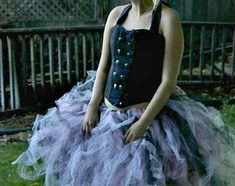 Pink and Black Lolita Adult Tutu - Adult Tutu - Women's One Size - Gothic Lolita - Burlesque