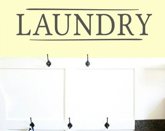 Laundry - Laundry Room and Bathroom Wall Decals