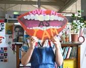 Original artwork on wood: Love Me As I Am