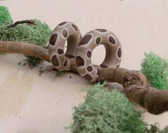 Burmese Python Mini Hoop Gauges