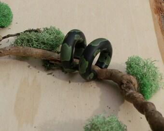 Ball Python Spiral Mini Hoop Gauges
