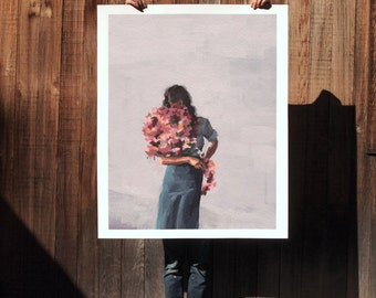 Flower Child . extra large artwork giclee art print