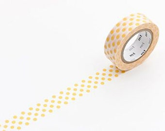 Dots Apricot - Japanese mt  Deco Washi Masking Tape, Scrapbooking, Gift Wrapping, Journal Washi, Card Decoration, Adhesive tape, MT01D132