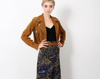 Maxi Skirt - Black 'Field of Dreams' with Gold - Hand Printed - Organic Cotton - Slow Fashion - Eco Fashion - Thief and Bandit®