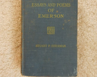 1921 Essays and Poems of Emerson