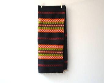 Vintage Swedish Woven Runner Textile