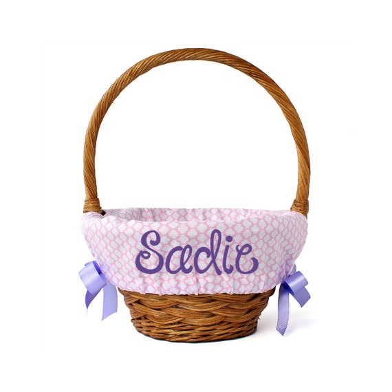 Personalized Easter Basket Liner Pink By Ourlittlemesses