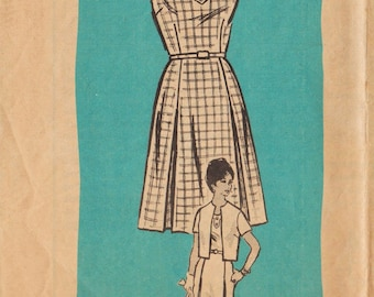 Vintage Mail Order Sewing Pattern 4814 / Dress And Jacket / Bust 43
