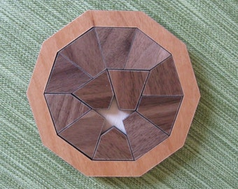 Optimal Tumble Walnut & Alder Wood Puzzle
