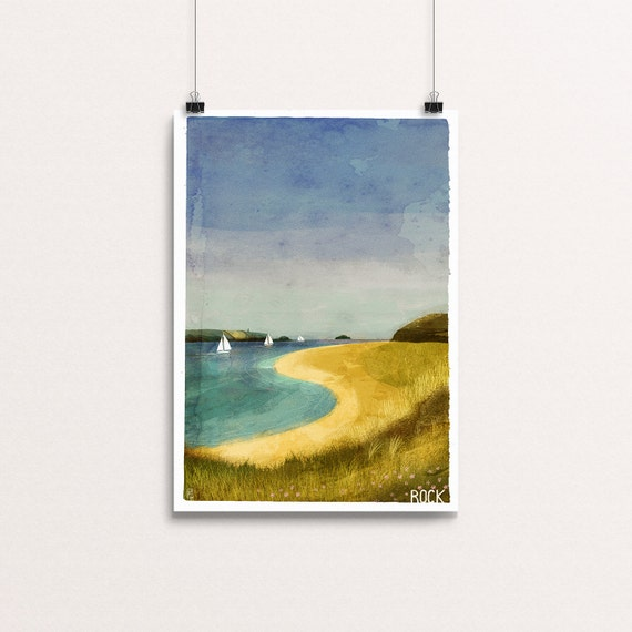 Rock - Signed Cornish Coasts Giclee Print