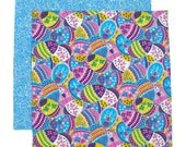 Easter Napkin, Kids Cloth Napkin, Lunch Napkin, School Lunchbox Napkin, 1 double sided fabric napkin