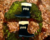 Womens Size 7.5... 1960s Winter Booties... Snow Boots... Yodelers