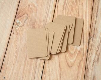 50pc Prairie COFFEE Kraft Eco Series Business Card Blanks