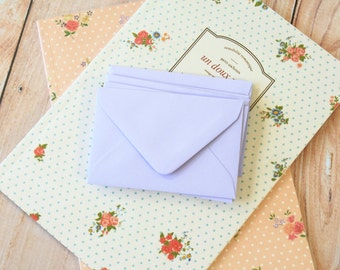LILAC Coloured Mini Envelopes & Note Cards 10pc set
