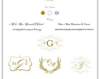 Formal Monogram - Wedding logo - Wedding Monogram - Wedding Stationary