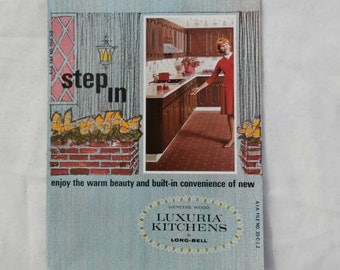 Luxuria Kitchens - Step In, 1960s Advertising Brochure by Long-Bell