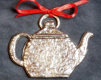 Pewter Teapot Ornament
