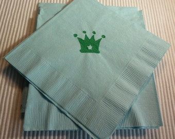 Small Crown Paper Napkins - Cocktail/Luncheon/Dinner - Package of 24