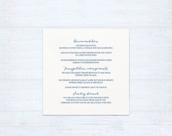 Printed Information Card – Hitched