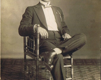 RPPC Young Man in Tuxedo - Dressed to the Nines - Herbert Lempke