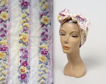 OSCAR de la RENTA floral scarf • vintage silk scarf • designer square scarf