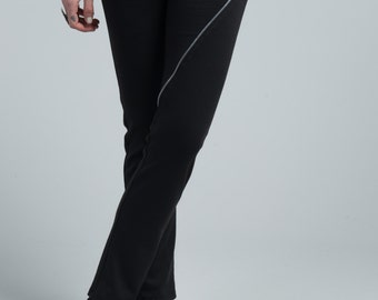 NEW Designer Long Leggings / Women's Pants / Ponte Pants / Fitted Pants / Black Pants / Long Skinny Pants / marcellamoda - MP668