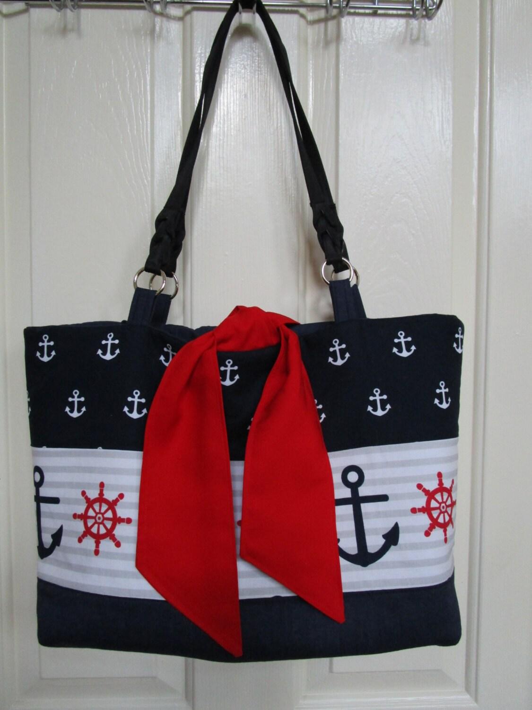nautical tote bag pattern easy sewing pattern weekender bag. Black Bedroom Furniture Sets. Home Design Ideas