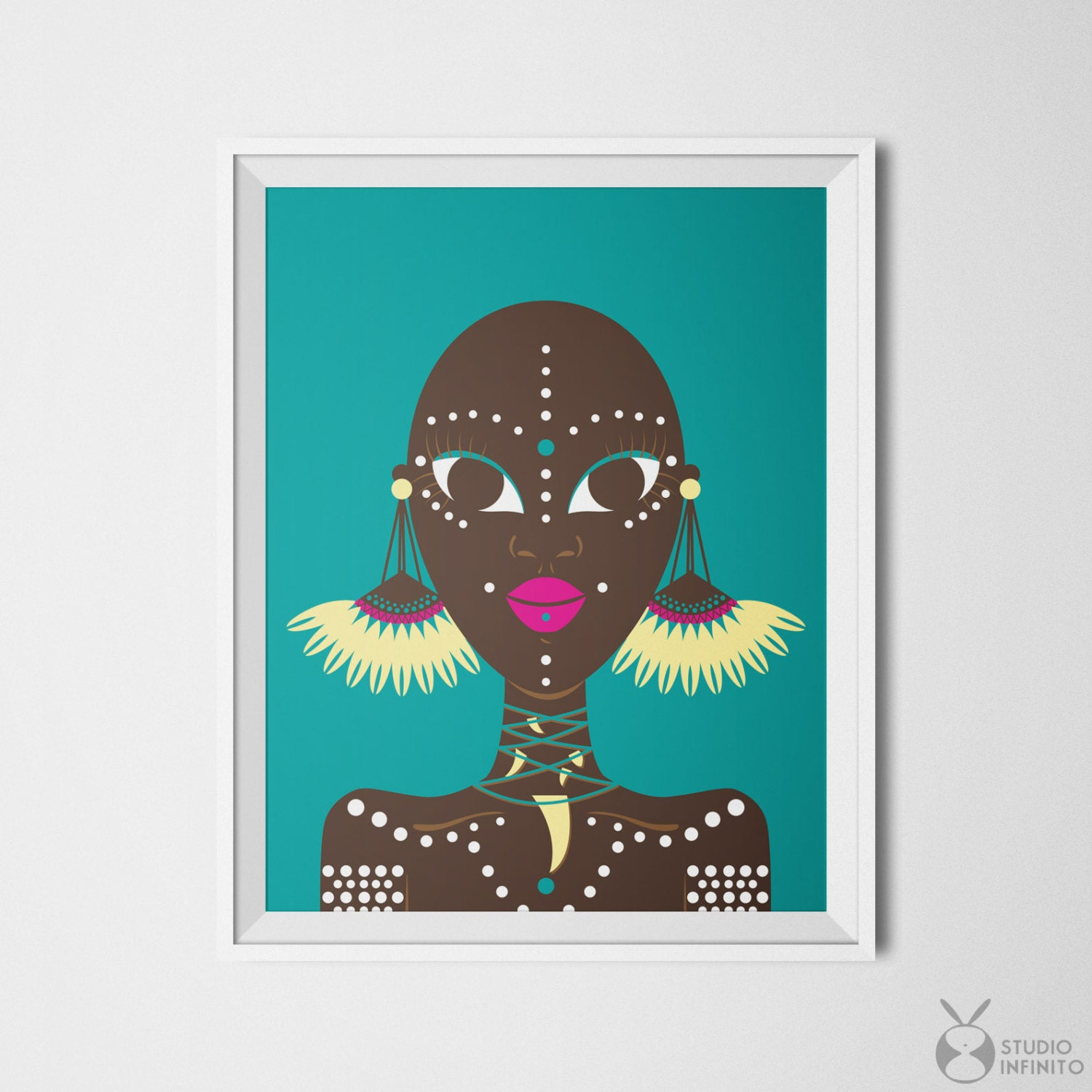 african wall decor ethnic wall art ethnic print african woman. Black Bedroom Furniture Sets. Home Design Ideas
