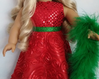 18 inch doll clothes - #263 Christmas Gown Handmade to fit the American Girl Doll - FREE SHIPPING