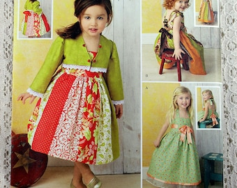 Simplcity 1331, Toddlers' Dresses and Bolero Sewing Pattern, Toddlers' Dress Pattern, Toddler Bolero Pattern, Toddler Sizes 1/2 - 4, Uncut