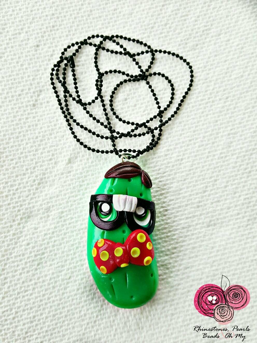 nerdy pickle necklace birthday gift bubblegum
